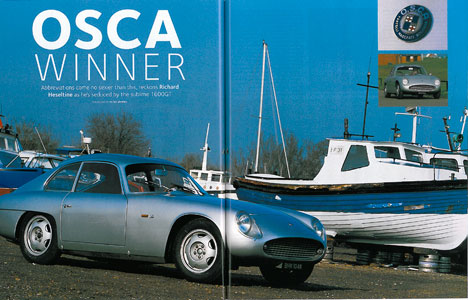 OSCA Winner – Calssic and Sports Car, July 2005. Richard Hesletine
